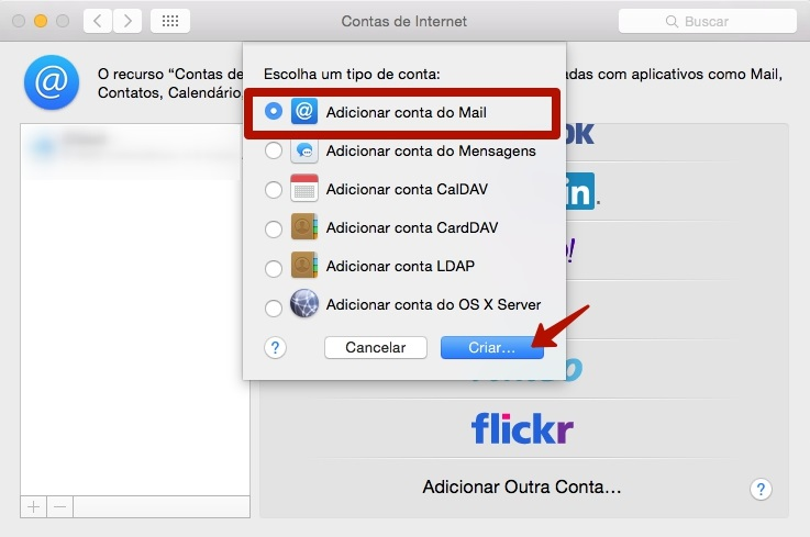 adicionar conta de email no iphone