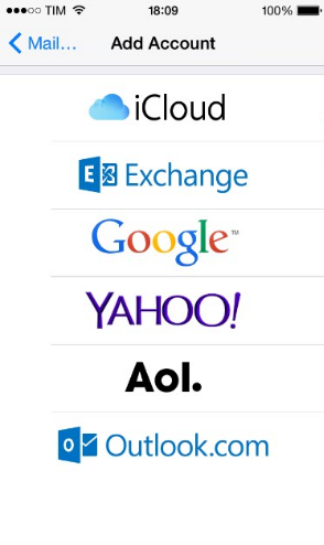 configurar email weblink iphone