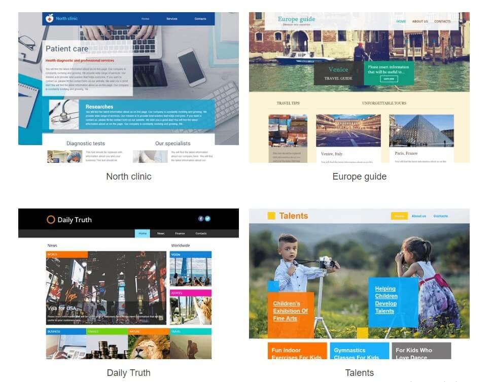 template-selecionar weblink