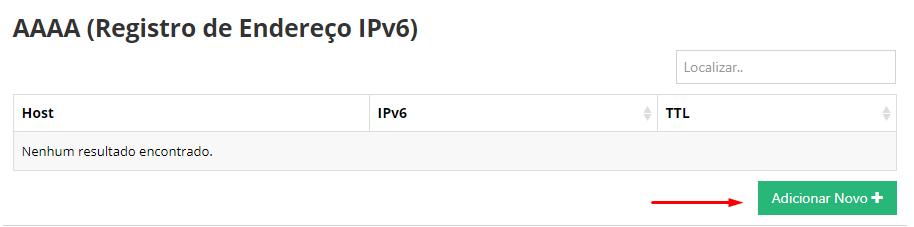 criar registro aaaa ou ipv6