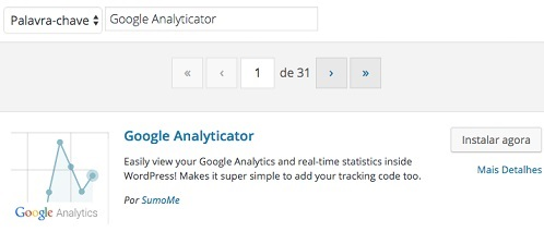 plugin google analyticator para wordpress