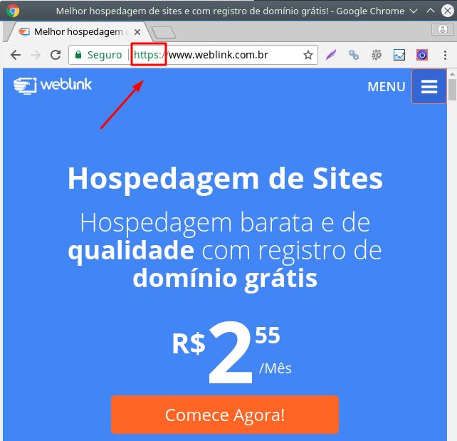 protocolo de rede https para segurança de site