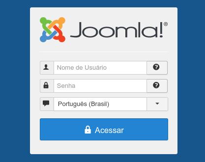 acesso ao admin do joomla