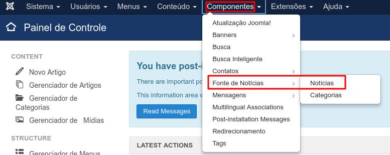 componentes de feed de noticias no joomla