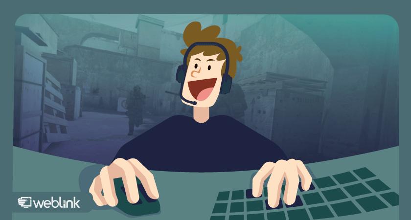 ilustração de conteúdo sobre como jogar cs go online
