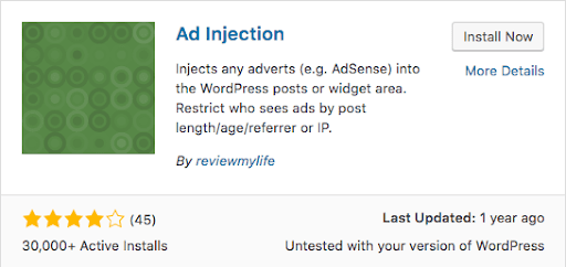 plugin ad injection