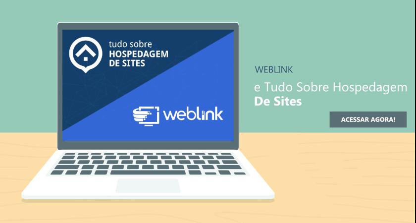 tela de computador com o logo da weblink