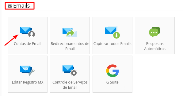 configurar servidor de email na weblink