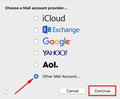 escolher cliente de email no mac mail