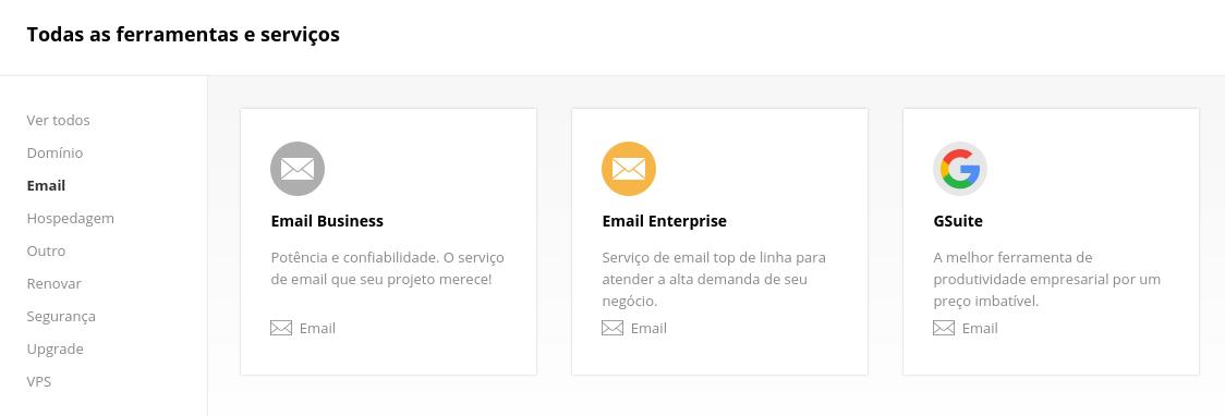 ferramentas de email na Weblink