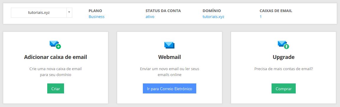 gerenciar conta de email business