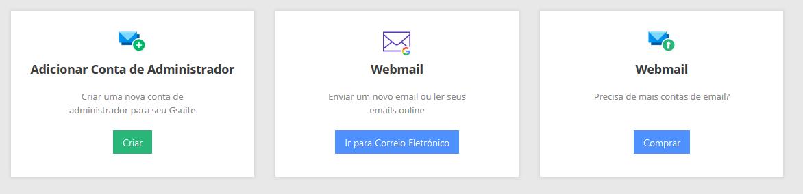 gerenciar conta de email gsuite na weblink