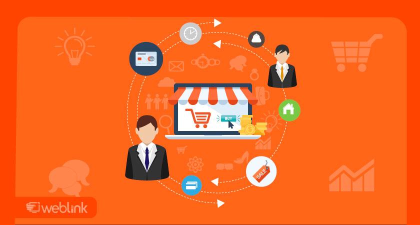 ícones de compras e vendas online para transações digitais