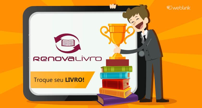 renova livro é uma plataforma digital de troca de livros na internet
