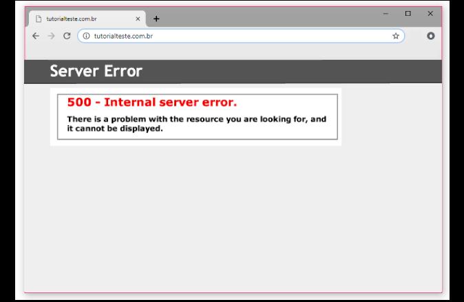 erro 500 é o erro de servidor interno
