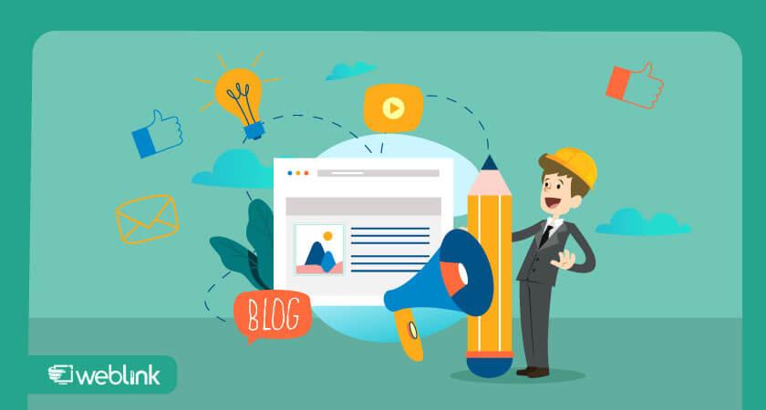 com um blog você pode criar conteúdos incríveis
