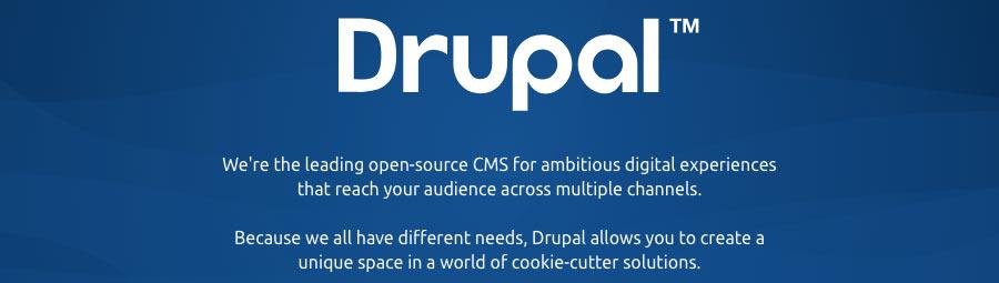 cms drupal para criar blog