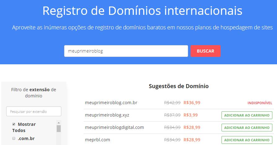 ferramenta de registro de domínio