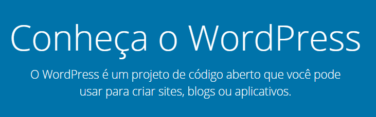 conheça o cms wordpress