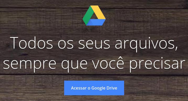 google drive serviço na nuvem