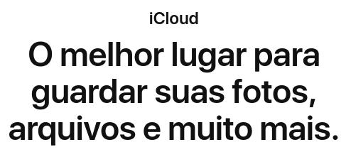 icloud é um serviço de armazenamento na nuvem