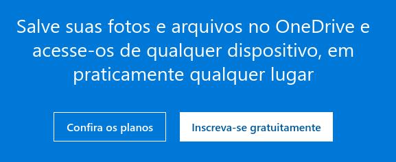 serviço em nuvem OneDrive