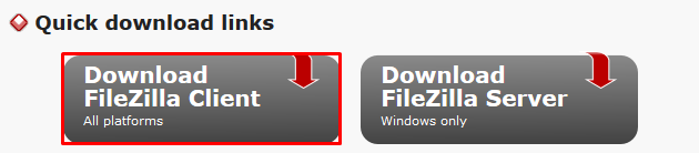 fazer download do cliente filezilla