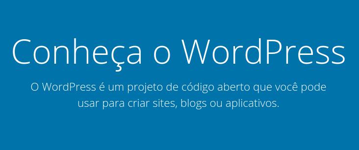 cms wordpress.org para fazer um site