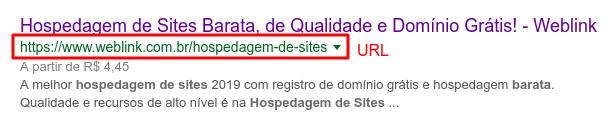 exemplo de url otimizada para SEO na Weblink