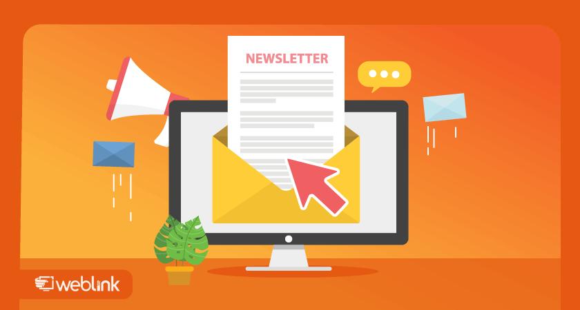 use newsletters para mandar conteúdos do seu blog para os visitantes