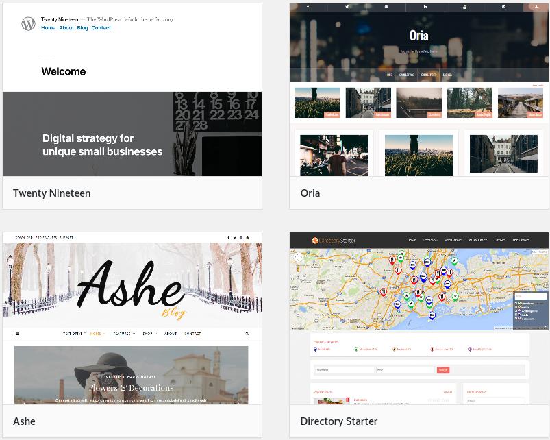 exemplos de temas wordpress