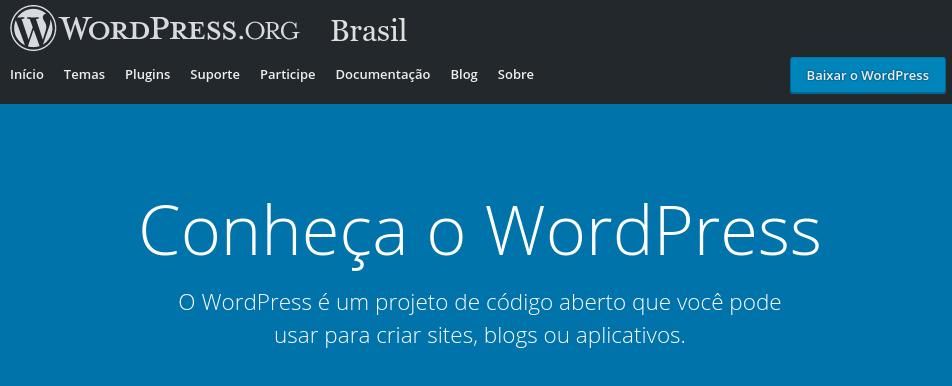 conheça o wordpress.org