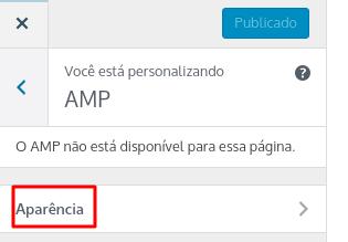 personalizar aparência do amp