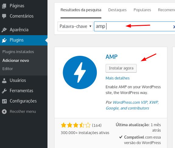 instalar plugin amp