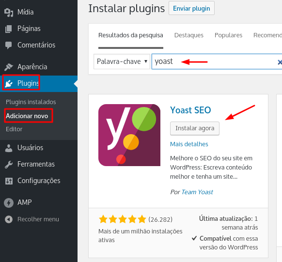 instalar yoast seo no wordpress