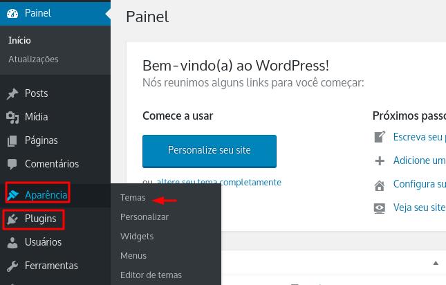 personalização do wordpress com temas e plugins
