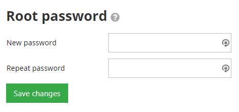 senha root do acesso ssh