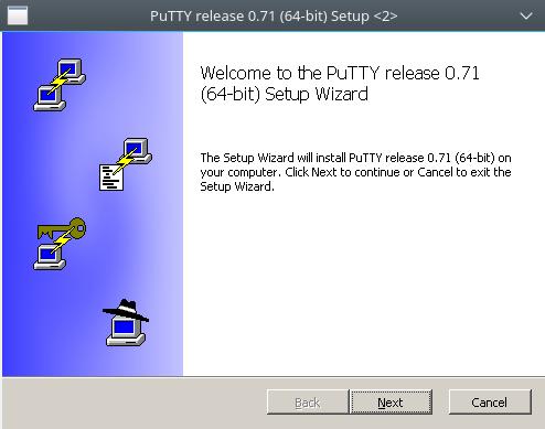 instalação do putty