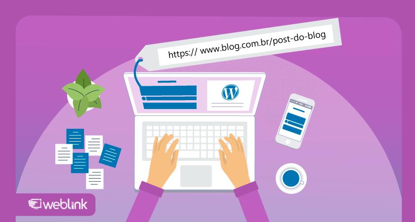 ilustração de conteúdo sobre o que é slug wordpress