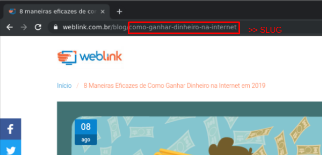 exemplo de slug wordpress