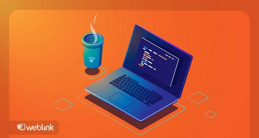 laptop com tela aberta para usuário aprender como programar
