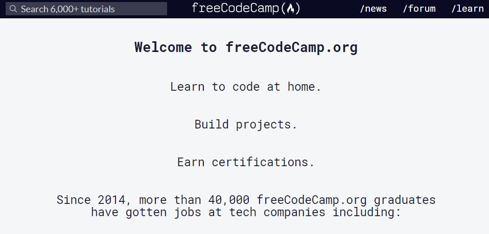 aprender programação no Free Code Camp