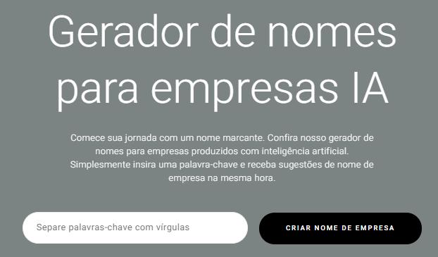 gerador de nomes para empresas do Zyro
